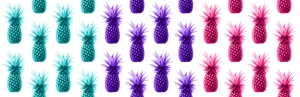 Coloured pineapples small
